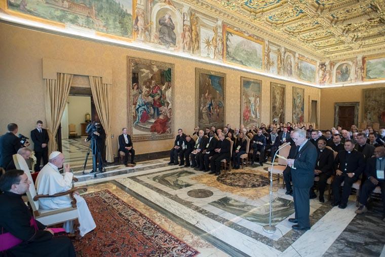 Spirit of communion needed in church, world, pope tells priests