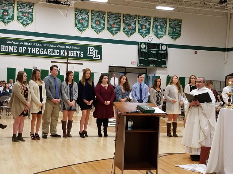Eucharistic Ministers commissioned at Bishop Ludden