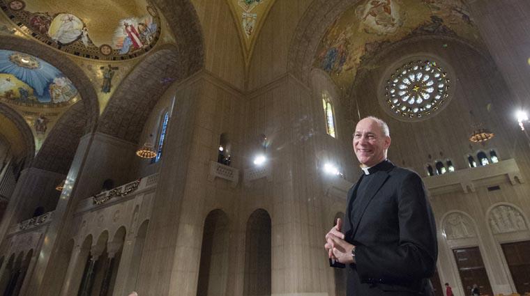Shrine rector sees Trinity Dome Mosaic as work of art, work of faith