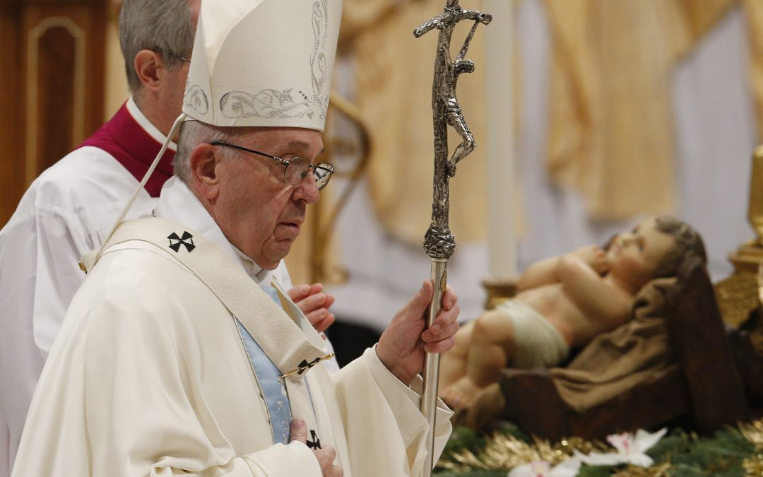 For New Year, pope urges help for refugees, respect for life