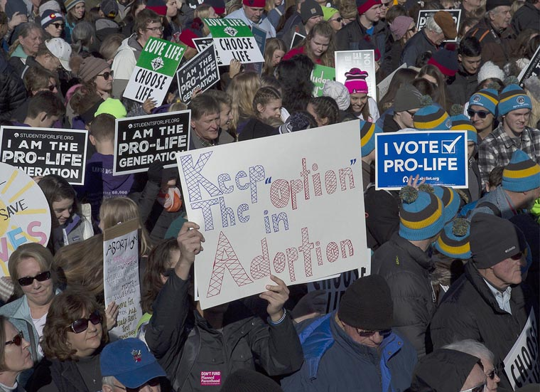 Pro-life marchers want their message to transcend politics