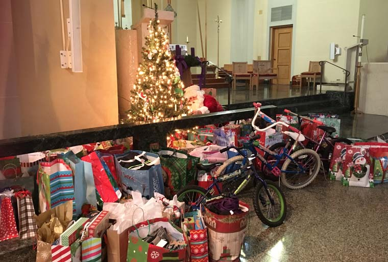 St. Joseph Church  in Oswego collects  gifts for those in need