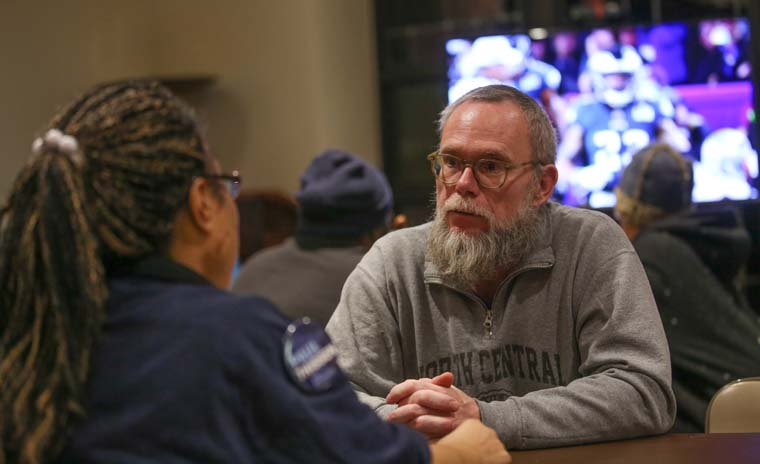 Parish throws Super Bowl party for homeless displaced by game security