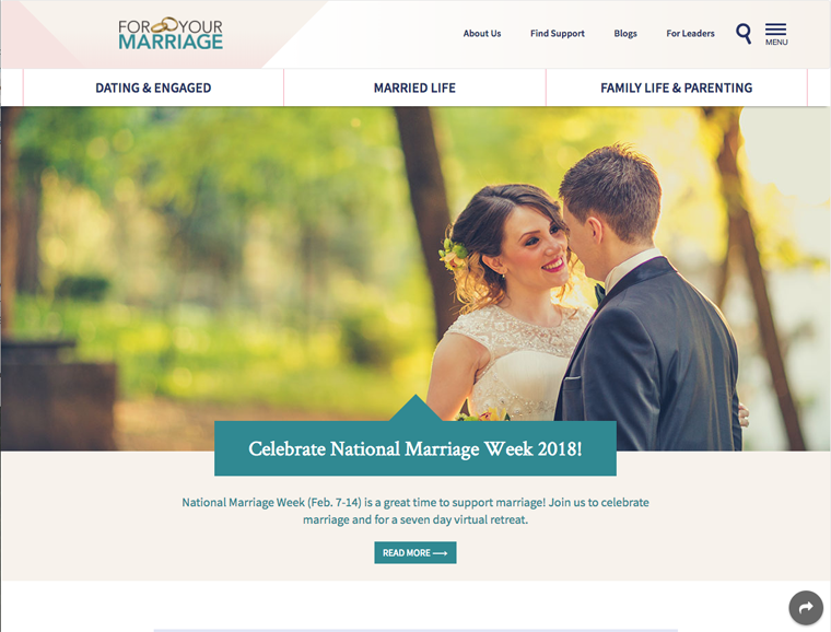 USCCB launches new mobile-responsive ForYourMarriage.org website