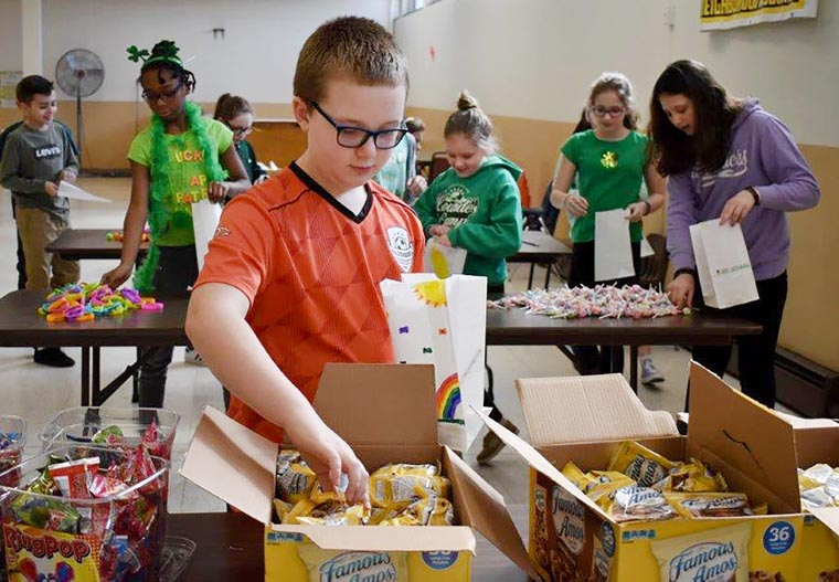 Blessed Sacrament students make gift bags