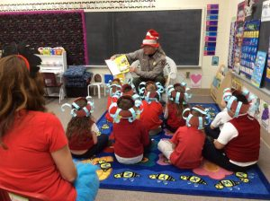 Mr. Bill Sawyer Park Ranger at Fort Stanwix 300x224 - Rome Catholic students 'Step Into Seuss'