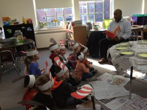 Mr. Bruce Hairston Branch Director at the Rome YMCA 300x224 - Rome Catholic students 'Step Into Seuss'