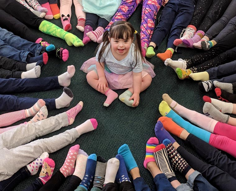 Blessed Sacrament School touts kindness on World Down Syndrome Day