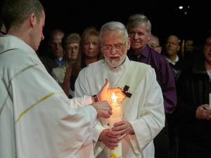 A3314340 300x225 - Light and liturgy at Easter Vigil