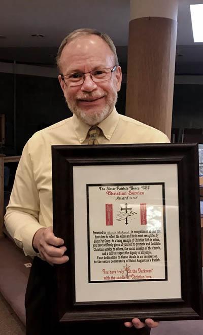 Dave Babcock copy 2 - David Babcock honored at St. Augustine Parish