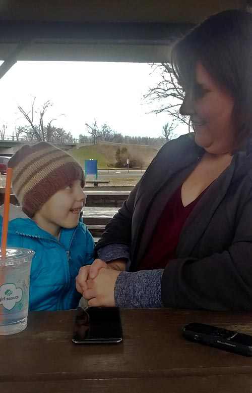 Kaylee and mom 2 - Brave kindergartner seeks to overcome cancer