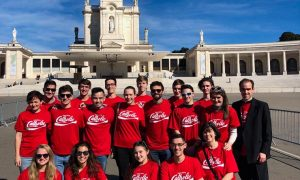 group in red shirts at Fatima 2 300x180 - group in red shirts at Fatima