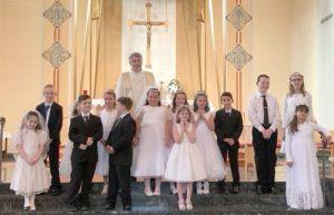 St Joseph Oswego 2018 first communion group color 300x193 - St-Joseph-Oswego-2018-first-communion-group-color