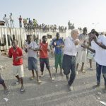 Father Bassano dances 150x150 - Priest lives with -- and dances with -- the displaced in South Sudan