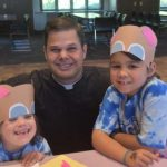 Father Zach Miller with 2 IC kids 1 150x150 - Catholic screenwriter doesn't pooh-pooh a teddy bear's importance