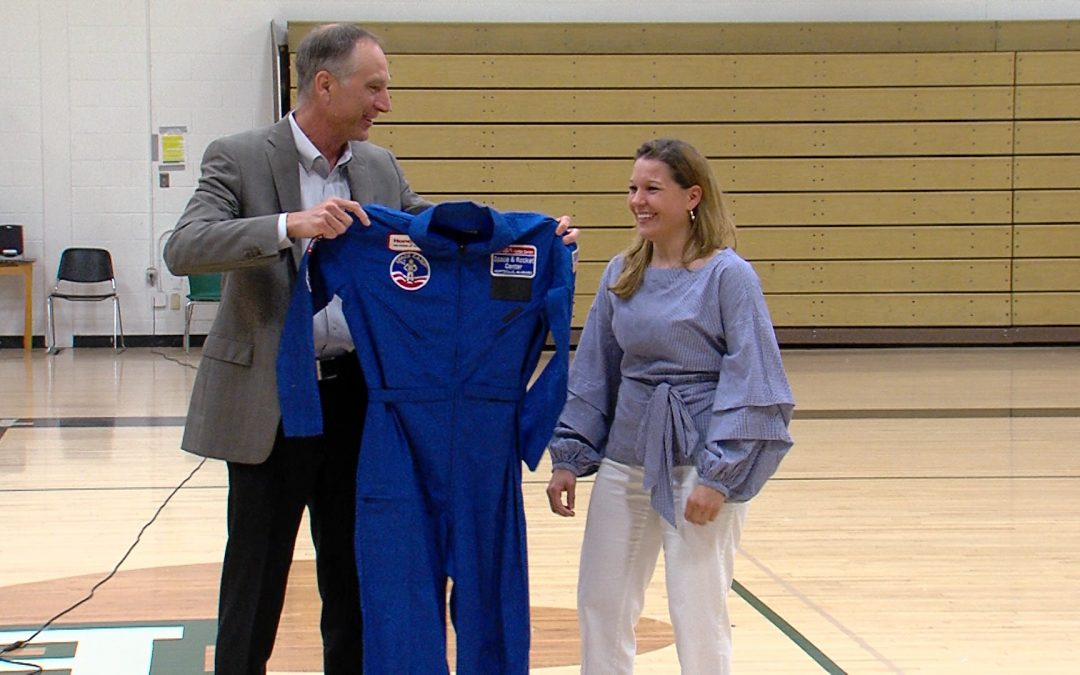 Bishop Ludden teacher suiting up for 'space flights': Michelle Hall wins scholarship to rocket center