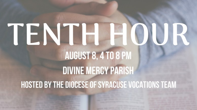 Diocesan youth are invited to 'The Tenth Hour: Discerning with the Bishop'