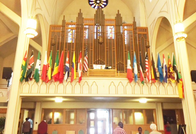 Flags of many nations on display at St. Vincent de Paul