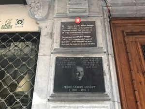 birthplace of Arrupe in Bilbao 300x225 - International collaboration aims to strengthen  Le Moyne's Ignatian spirit