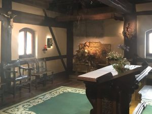 room of Ignatiuss conversion now a chapel 300x225 - International collaboration aims to strengthen  Le Moyne's Ignatian spirit