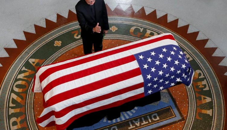 Jesuit priest and school president offers prayers at McCain memorials
