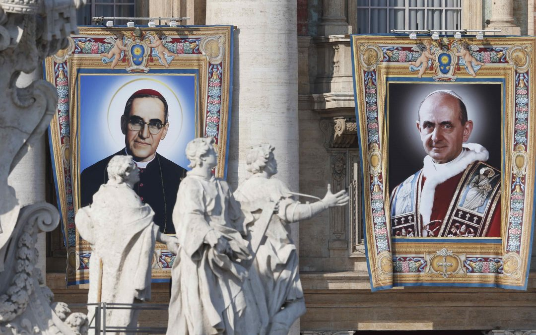 New saints: Pope Paul VI, Archbishop Oscar Romero canonized