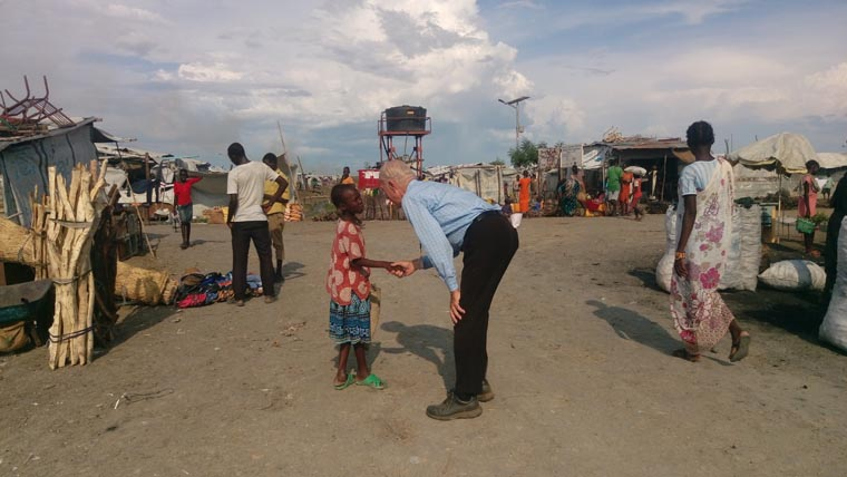 Missionary moved by scene in South Sudan