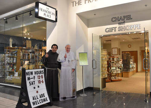 Father Nader pope good - Franciscan store starts 20th year at Destiny USA