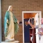 IC bless statue Father Ryan 150x150 - IC School helps stock pantry