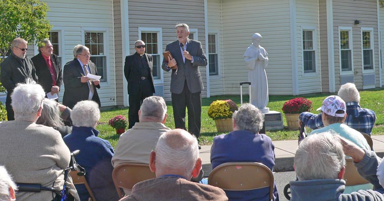 St. Francis of Assisistatue dedicated onOswego's East Side
