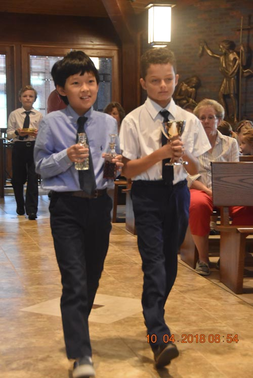photo 1 - IC liturgy on St. Francis' Day