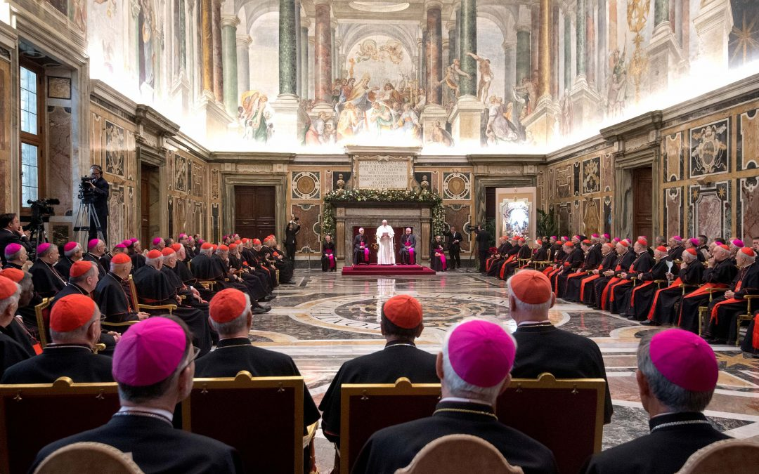 Church will spare no effort to end abuse, pope tells Curia