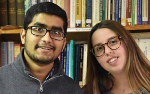 Tahsin and Emily 300x187 - Scholars pause for charity, interfaith solidarity