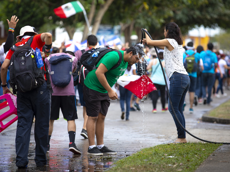 Panama shows solidarity with pilgrims along route to World Youth Day vigil