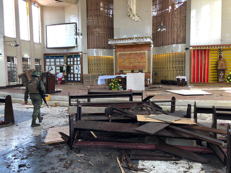 Church leaders call Philippine church attack 'heinous and evil' terrorism
