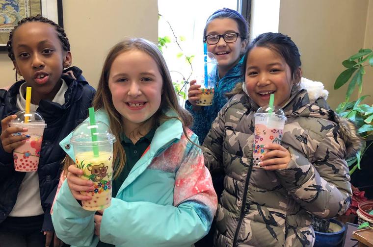 St. James students put  language skills to work