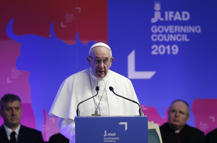 Pope calls on world leaders to eradicate poverty, hunger