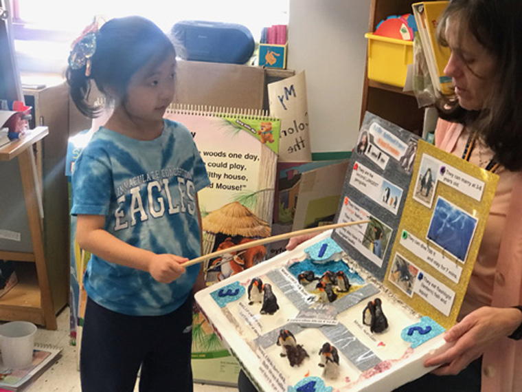 IC School kindergartners spotlight Arctic, Antarctic animals