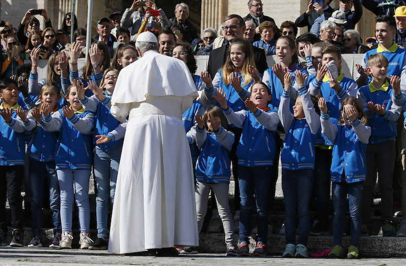 God's kingdom comes through gentleness, not violence, pope says