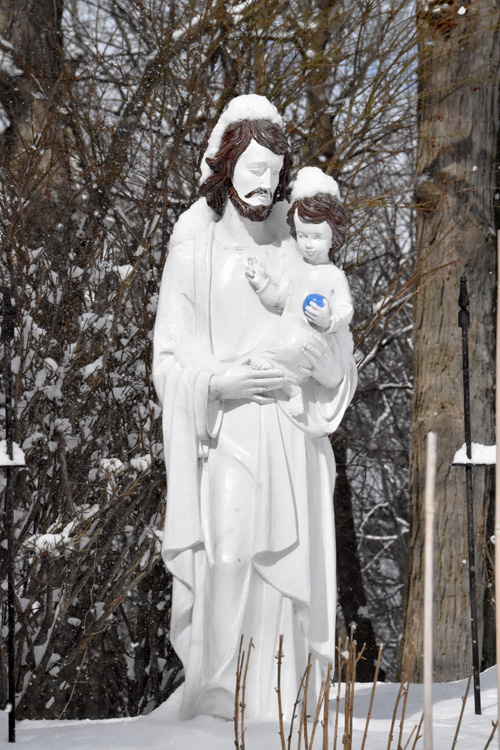 JosephJesus statue - Father Rose stepping away from hilltop retreat center