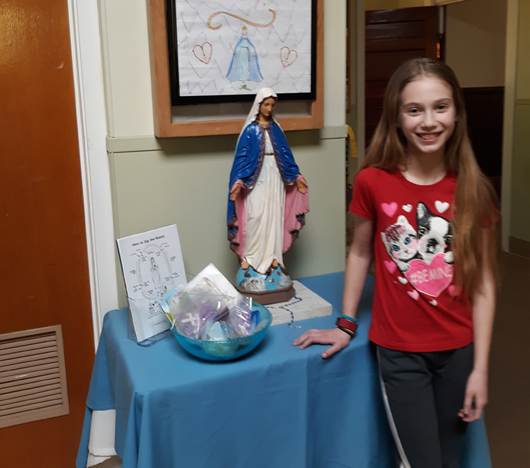 Young parishioner develops 'God Gives A Rosary' campaign