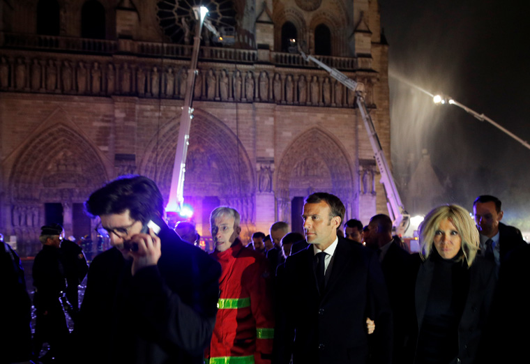 French leaders pledge Notre Dame Cathedral again will grace Paris skyline