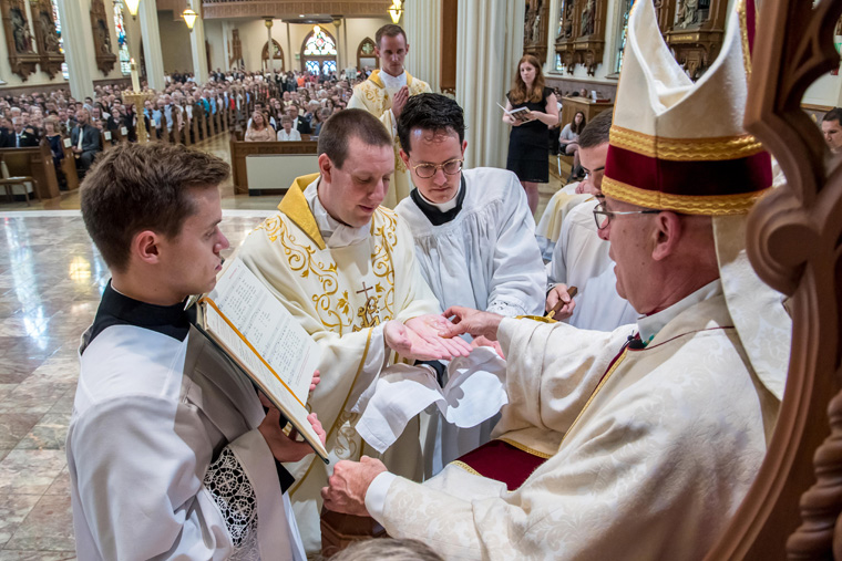 Incoming priests had varied professions before entering seminary