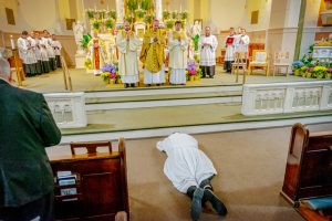 Clark DiaconateOrdination 6 tad lighter 300x200 - 'He's going to be a wonderful priest': Malachi Francis Clark is ordained as a transitional deacon