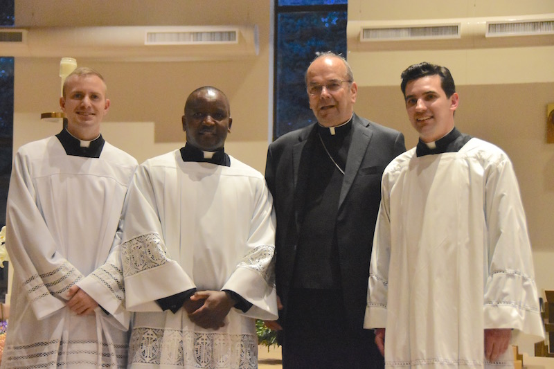 Three seminarians accepted as worthy candidates for priesthood