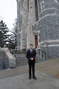 Dominic front of Cadet Chapel 200x300 - Dominic front of Cadet Chapel