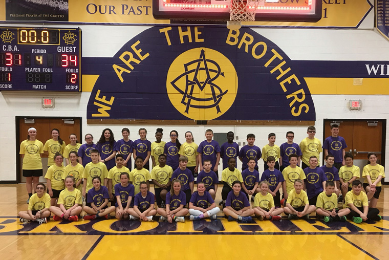 Sixth-graders from nine schools enjoy day of basketball