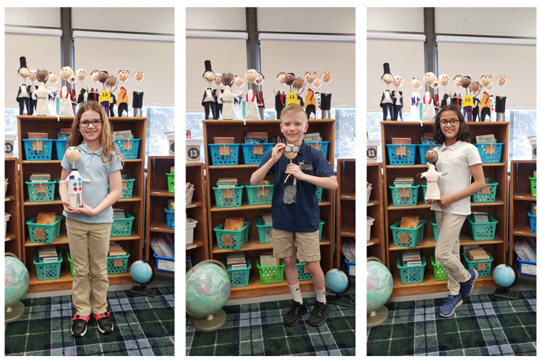 St. Mary's students present Biography Wax Museum project