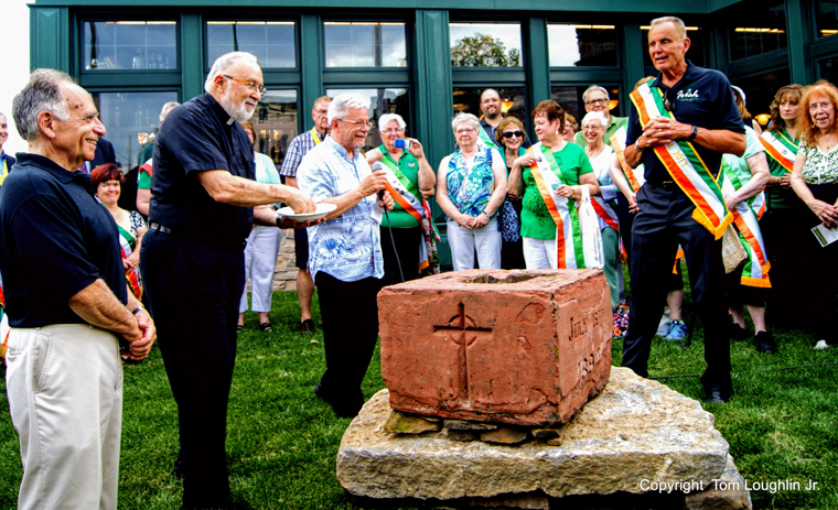 Utica Irish Cultural Center blessed and dedicated by Fathers Dellos, Salerno