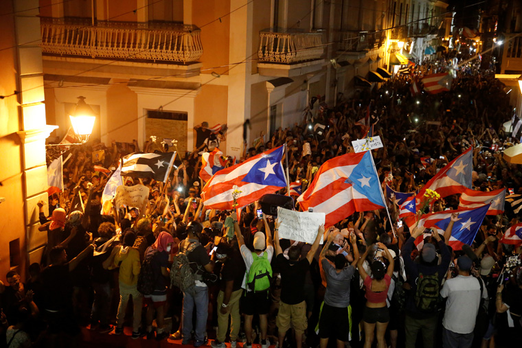 Puerto Rican governor resigns amid massive protests